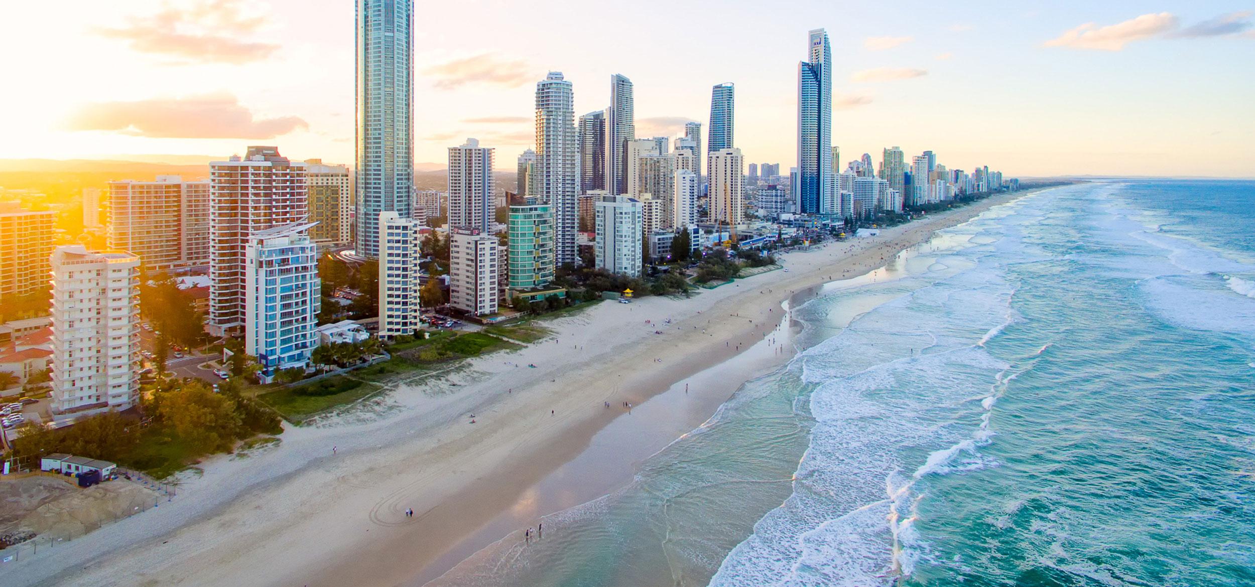 Surfers Paradise on the Gold Coast of Queensland, Australia.