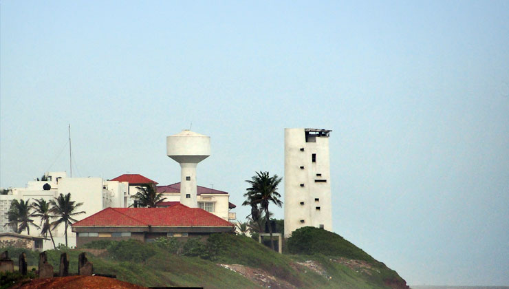 View of Osu Castle in Accra, Ghana