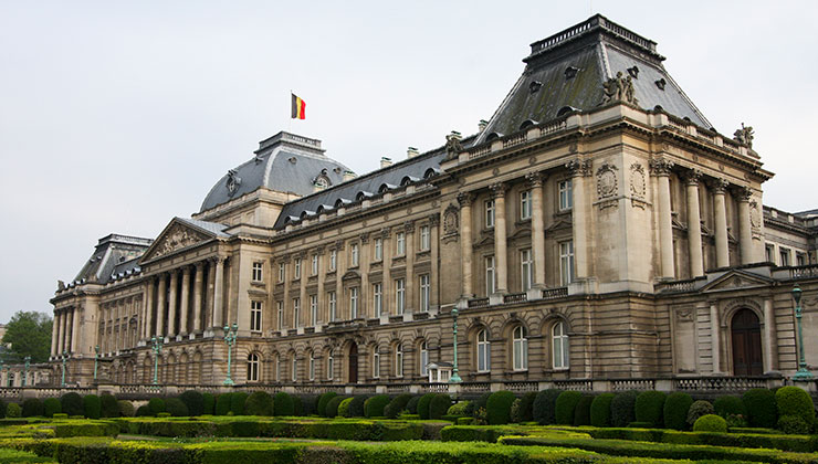Building of Palais Royal in Brussels, Belgium.