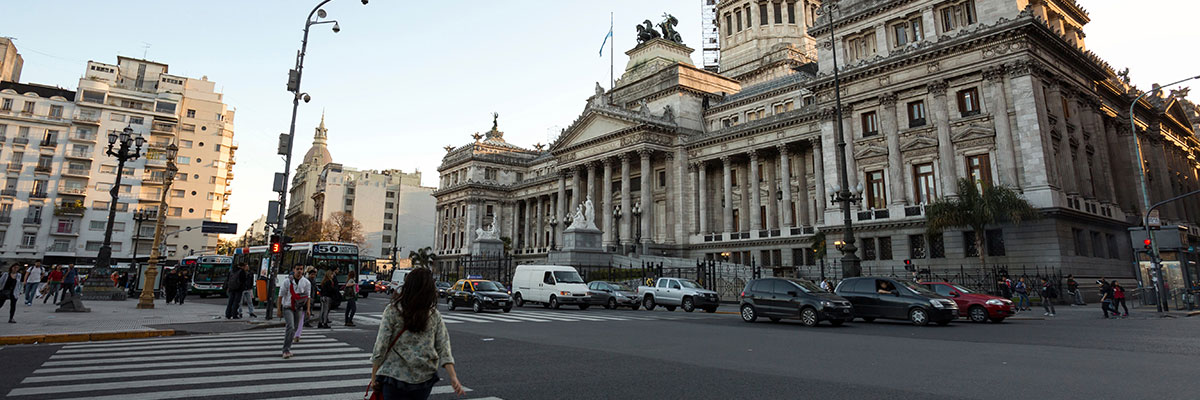 The Argentine National Congress at Buenos Aires Downtown - Argentina.
