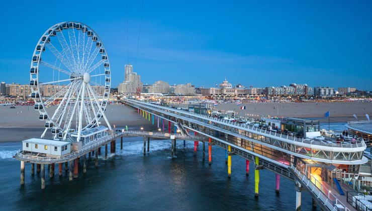 View of the Pier in The Hague, Netherlands.