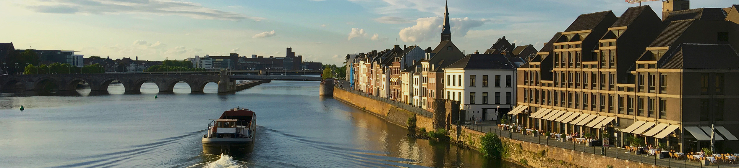 View of Maastricht along the Maas (Meuse) River.