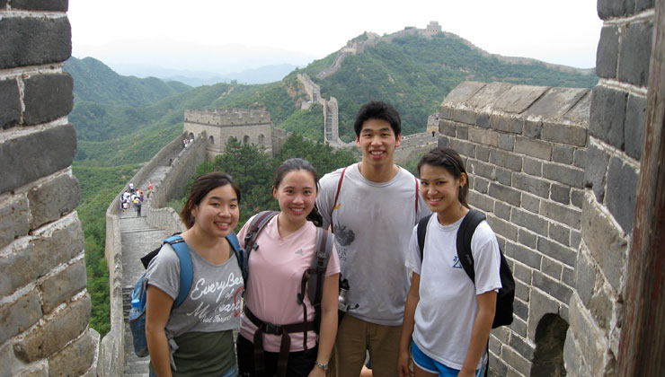 UCEAP students tour the Great Wall of China.