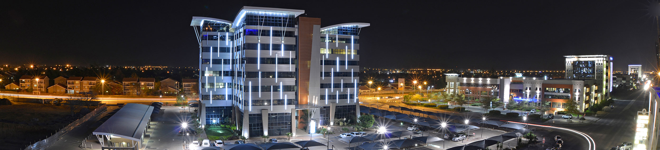 View of Gaborone city center in Botswana.
