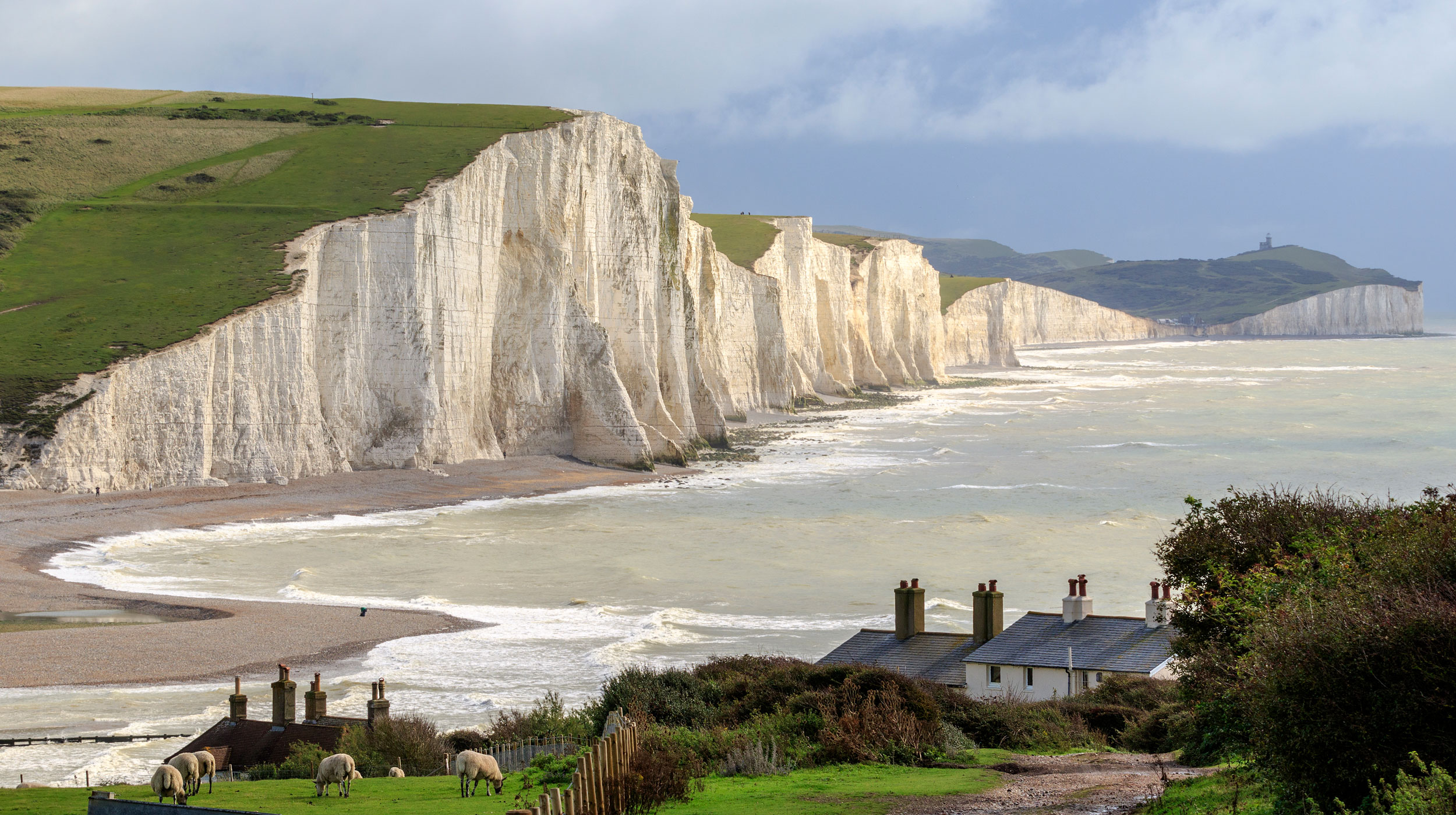 Seven Sisters, a set of cliffs by the English Channel in East Sussex.